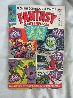 Fantasy Masterpieces # 1, Fn, 6.0, 1966, Marvel Comics Group, Silver Age
