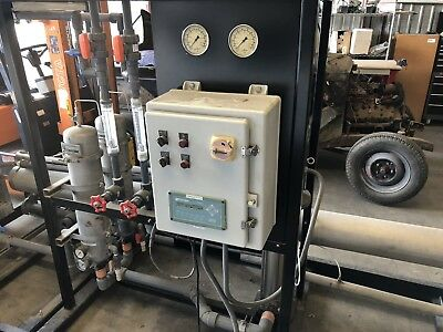 """Reverse Osmosis Industrial size 31,500 Gallons Per Day, Used, Has 3 of 8"""" X 40"""""""