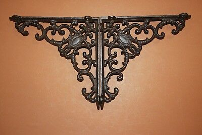"(3)Pcs, Elegant Victorian Design Vintage-Look Cast Iron Shelf Brackets, 8""  B-29"