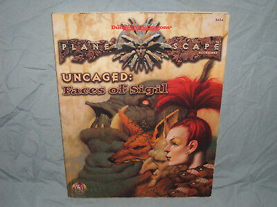 AD&D 2nd Edition Planescape Accessory -   UNCAGED: FACES OF SIGIL  (Very Rare!!)