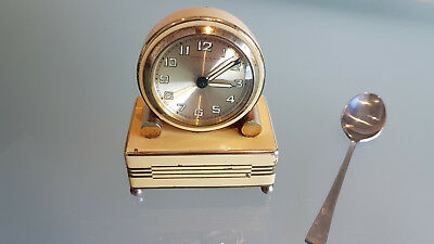French Clock, Newson 7 Jewel With Working Musical Alarm Movement. Clock Af.