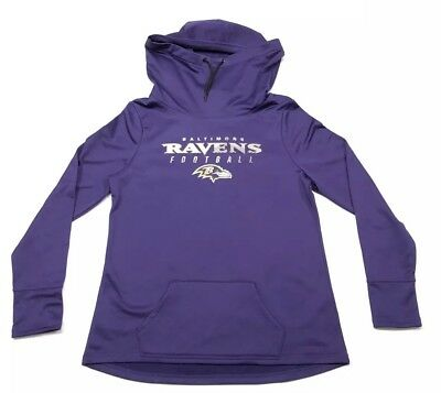 Womens Baltimore Ravens Hoodie Sweatshirt Majestic Therma Base NFL Size  Large aed8be4ac