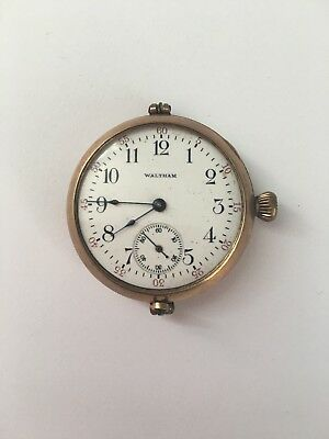 Waltham Pocket Watch Gold Filled Case Women's Antique1895