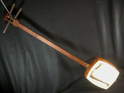 Vintage Japanese Rosewood Shamisen Stringed Musical Instrument