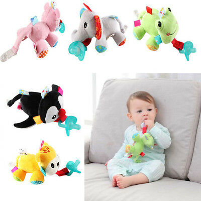 US Stock Latest Boy Girl WubbaNub Animal Plush Toy Infant Baby Soothie Pacifier