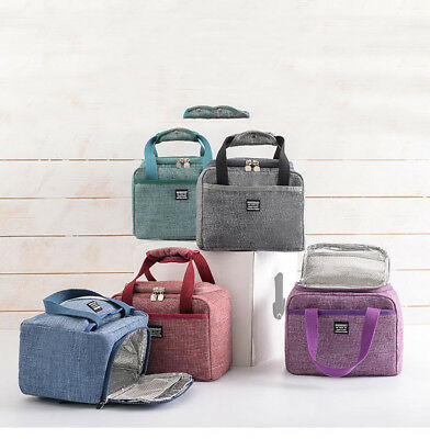Insulated Lunch Box Soft Cooler Bag Waterproof Thermal Work School Picnic BentoM