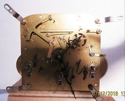 vintage mantel clock movement platform escapement + hands + chimes