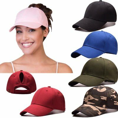 Hot Ponycap Messy High Bun Ponytail Adjustable Cotton Baseball cap hats
