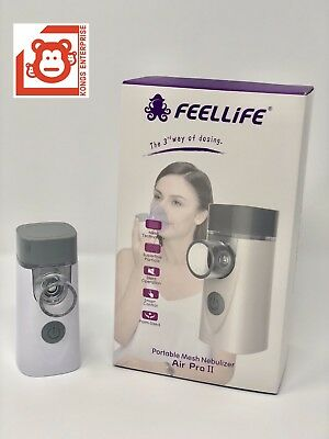 2x FeelLife Portable Mesh Ultrasonic Nebulizer, Air Pro II,1 yr Factory Warranty