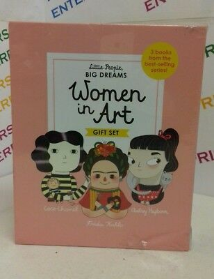 Little People Big Dreams Women In Art Gift Set 3 Books NEW Box Untidy