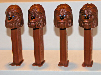LOT OF 4 Vintage Star Wars Chewbacca Pez Dispenser NO Candy