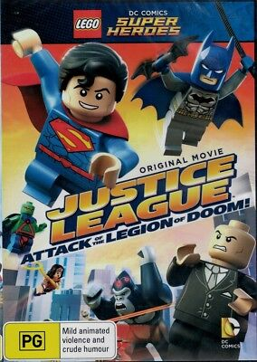 """""""LEGO: JUSTICE LEAGUE, ATTACK OF THE LEGION OF DOOM"""" DVD - Region [4] BRAND NEW"""