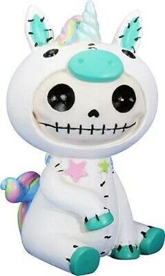 FurryBones Unie Large Figurine White Unicorn Ornament Cute Skull Cool Fun Gift