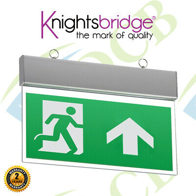 Knightsbridge 230V IP20 Non / Maintained Ceiling Mounted LED Emergency Exit Sign