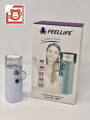 2x FeelLife Portable Mesh Ultrasonic Nebulizer, mini Air 360+