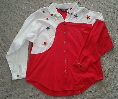 Genuine US cowboy shirt Panhandle Slim size M  14 top condition star buttons
