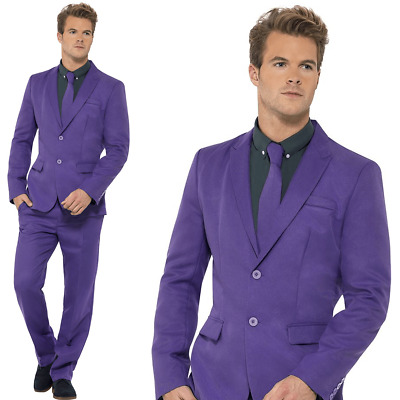 Mens Stand Out Suit Purple Stag Do Party New Comedy Fancy Dress Costume Outfit