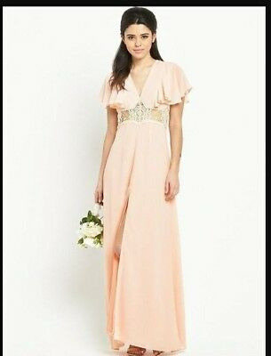 Jarlo Edith Ruffle Maxi Dress Size 14 BNWT