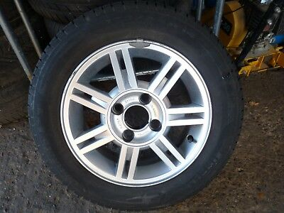 ford fiesta mk4 or mk5 alloy wheel and tyre  175-65-14  zetec -ghia-lx 98-2002