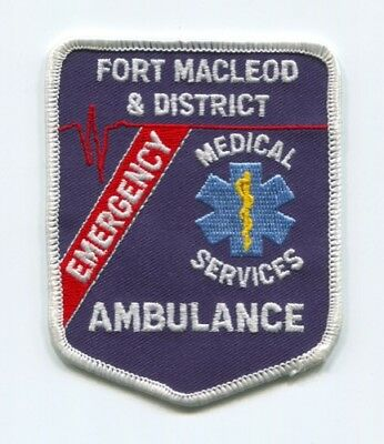Fort Macleod And District Emergency Medical Services Ems Ambulance Patch Canada