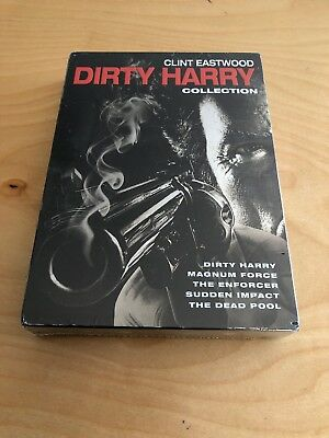 DIRTY HARRY COLLECTION (DVD, 2015, 5-Disc Set) NEW, Clint Eastwood