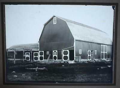 Vintage Occupational Photograph Of A Barn & Attached Chicken Coop-