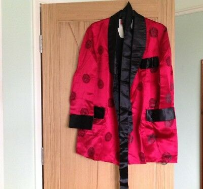 men's vintage silky dressing gown