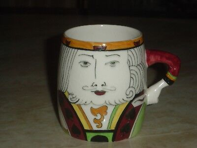 Clarice Cliff Delightful & Rare Playing Card Mug. King Of Spades.