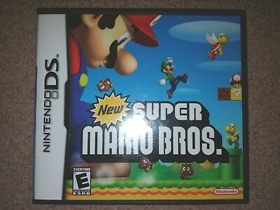 New Super Mario Bros Nintendo DS Lite DSi XL 2 DS 3 Ds USA With Case And Manuals