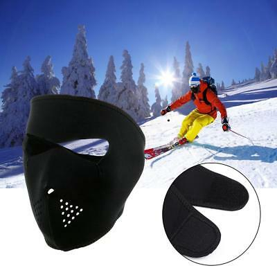 Black 2 in1 Reversible Neoprene Full Face Mask Ski Snow Motorcycle Cycling Mask