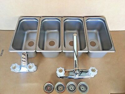 Concession Sink  3 Compartment & Hand Washing for Stand Tent Trailer NEW