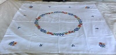 Vintage Hand Embroidered Table Cloth