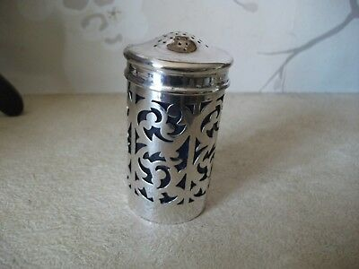 Vintage/antique Silver Plated Lined Pepperette-Reticulated