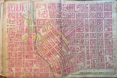 1906 Downtown Baltimore Md Penitentiary Courthouse Eastern Female H.s. Atlas Map