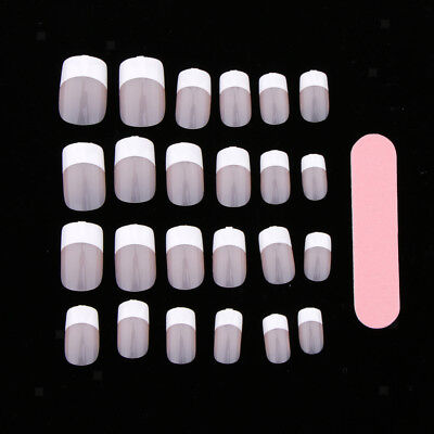 24 Pre-Designed False Nail Tips Press On Artificial Full Cover Nail Sticker