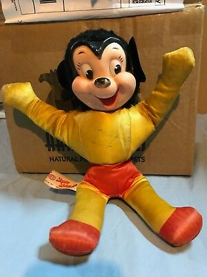 Mighty Mouse  Rare Vintage Terrytones Cartoon Stuffed Doll. Ideal
