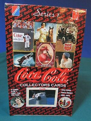 Coca Cola Collectors Cards – Series 1 – Open Box – 188 Cards – 36 Tokens
