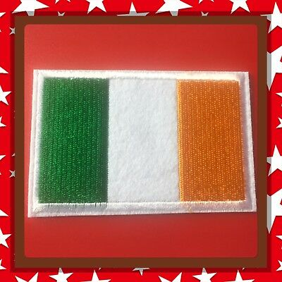 🇨🇦 Ireland  Patch Flag  Embroidered Sew On/stick On Clothing/new 🇨🇦