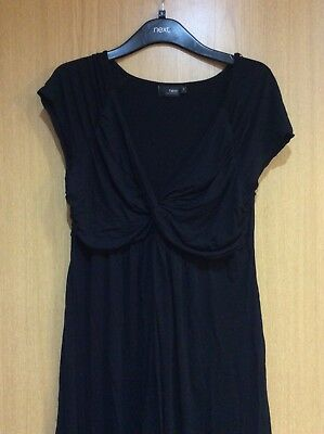 NEXT Gorgeous Crossover Maternity Black Dress, Size 16, In VGC.