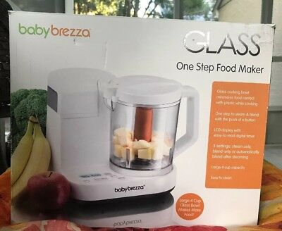 Glass Baby Brezza One Step Baby Food Maker - White/Grey