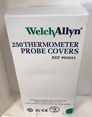 WELCH ALLYN M031 Digital Thermometer Disposable Probe Covers. Qty250. 05031-101