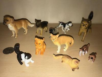 Lot Of 11 SCHLEICH SAFARI BLIP  Dogs And Cats Small PVC Figures - STOCKING STUFF