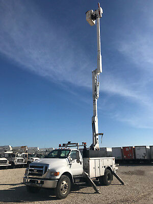 2007 Ford F750 Altec 60' Material Handler Over Center Bucket Boom Truck Diesel