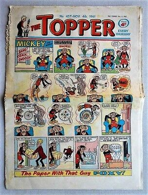 THE TOPPER # 457 November 4th 1961 comic fireworks issue