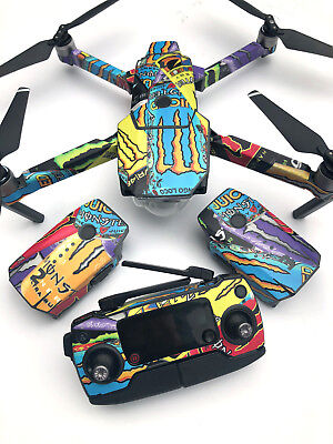 Dji Mavic Pro Skin Sticker Decal Monster Madness
