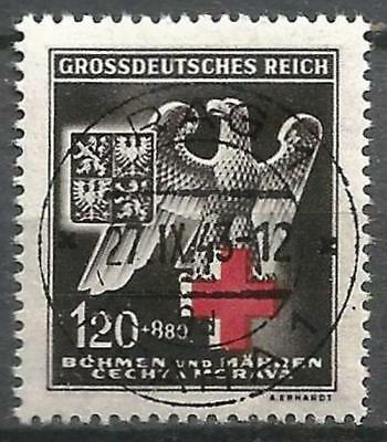 Germany (Third Reich) 1943 Used - Bohemia/Moravia - Red Cross - Mi 132