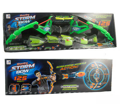 Bow and Arrow Toy Set Kids Archery with foam arrow outdoor shoot over 125 ft