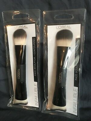 2 x L'Oreal Consealer Brush Makeup Beauty Cosmetic Face Brand New.