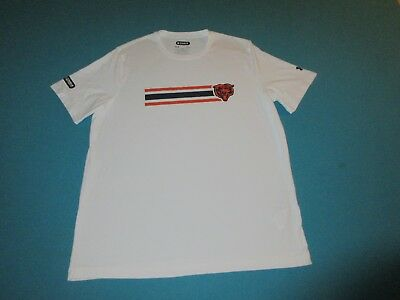 7c42217dd CHICAGO BEARS UNDER ARMOUR COMBINE Mens White Short Sleeve Shirt Large L