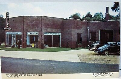 Late 1940's Chrysler Plymouth Dealership Postcard